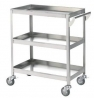 Stainless steel three-angle trolleys